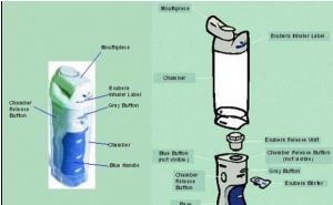 Exubera Inhaler - Main Parts (reference 2)