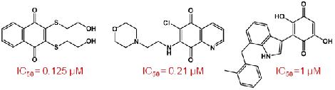 Figure 2 – Quinones as Inhibitors of Cdc25B